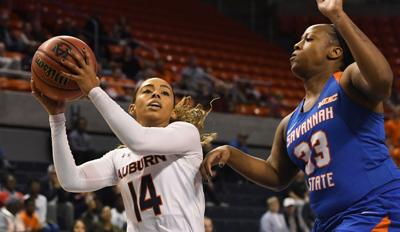 Ten Different Players Score As Auburn Cruises Past Savannah