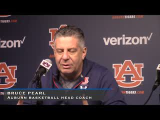 Auburn Basketball Head Coach Bruce Pearl Press Conference Feb 22