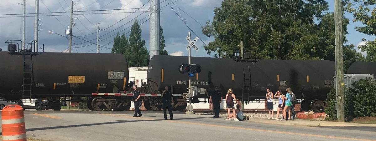 20-year-old female seriously injured in pedestrian vs  train