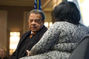 Andrew Young's message at MLK breakfast focuses on adversity