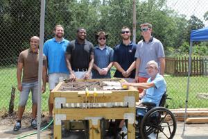 Auburn University students build adaptive raised bed for Opelika Grows