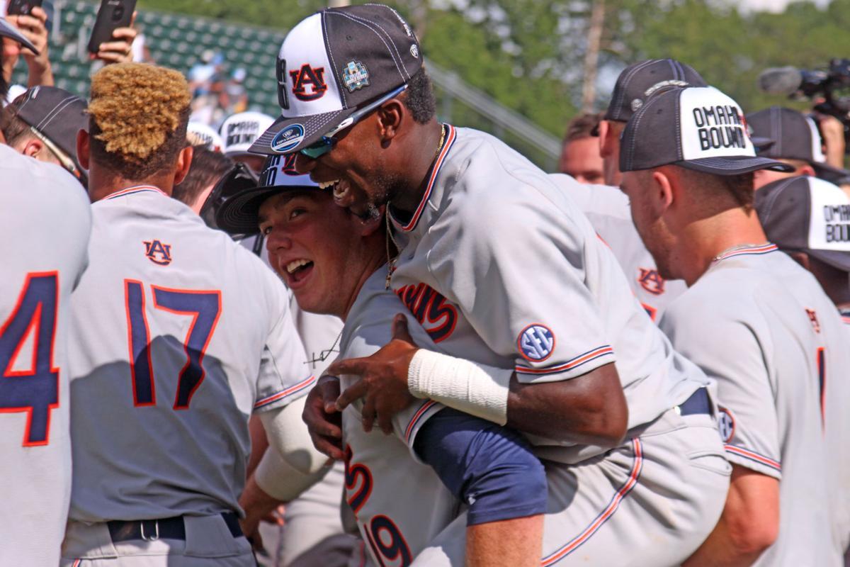 PHOTOS: Auburn celebrates Super Regional win, College World Series berth