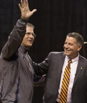Auburn coach Bruce Pearl has a big fan in Gus Malzahn