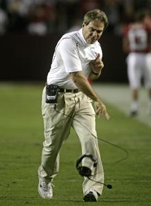 Alabama Football Saban Sticks Up For Sec Officials College Sports
