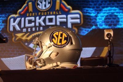 SEC football helmet