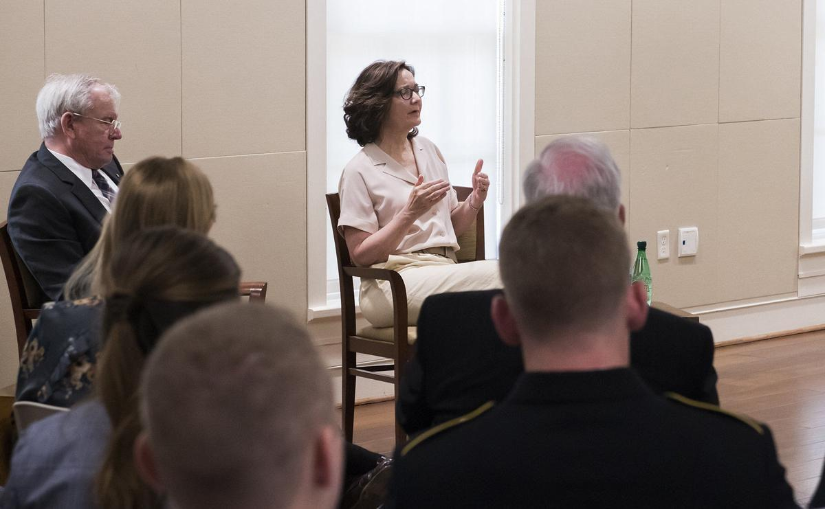CIA Director Gina Haspel during a visit to Auburn University