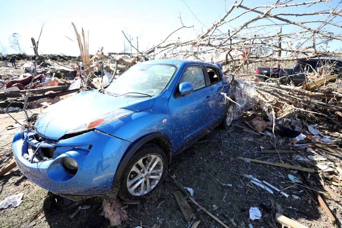 Tornado damage on Lee Road 38 in Beauregard