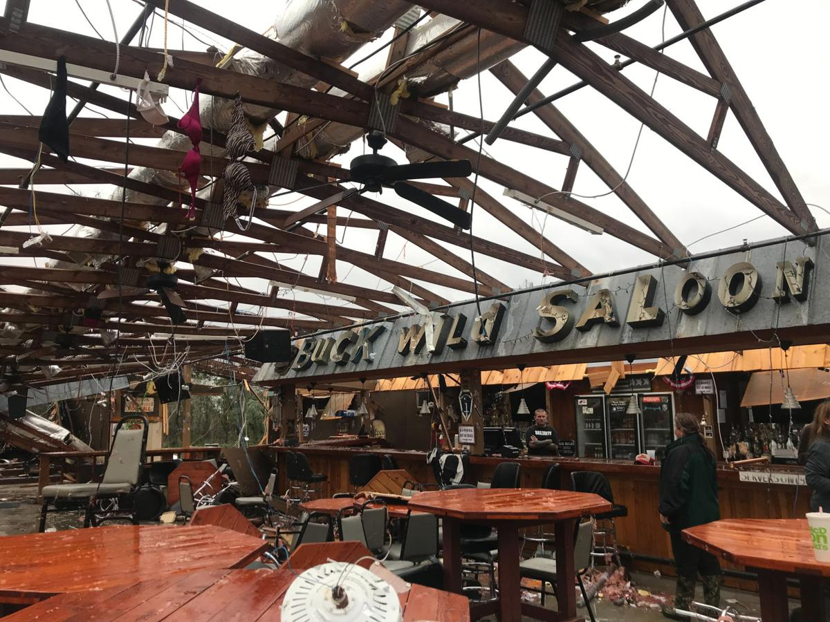 Tornado damage in Smiths Station