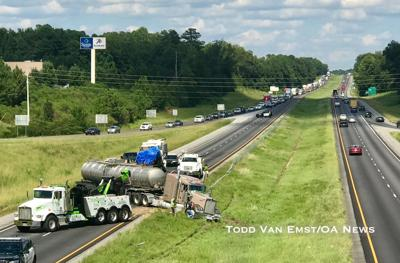 UPDATED: Vehicles cleared after accident causes backup on I