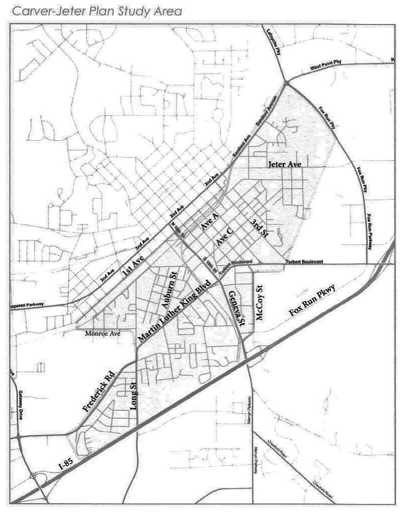 jeter carver map