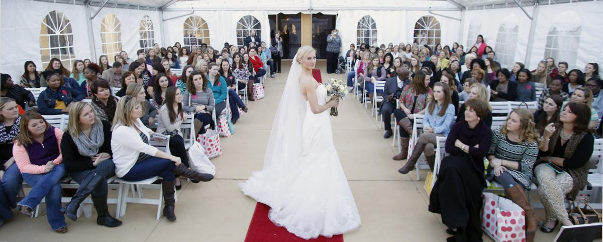 Large crowd attends bridal expo