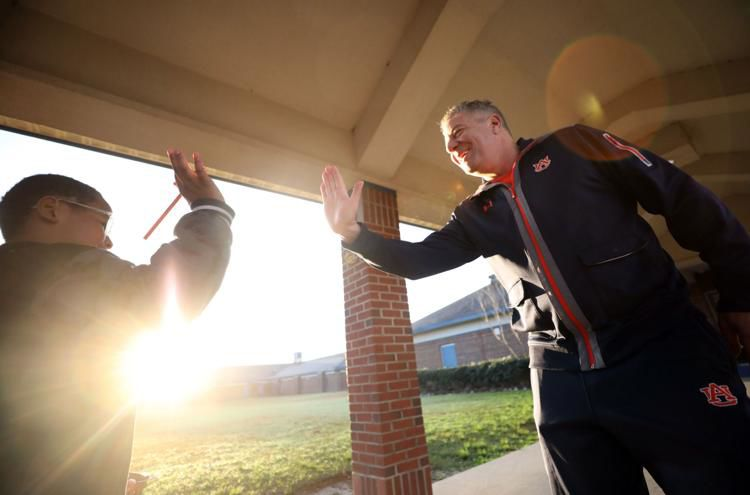 Tornado--Bruce Pearl in the morning sunlight