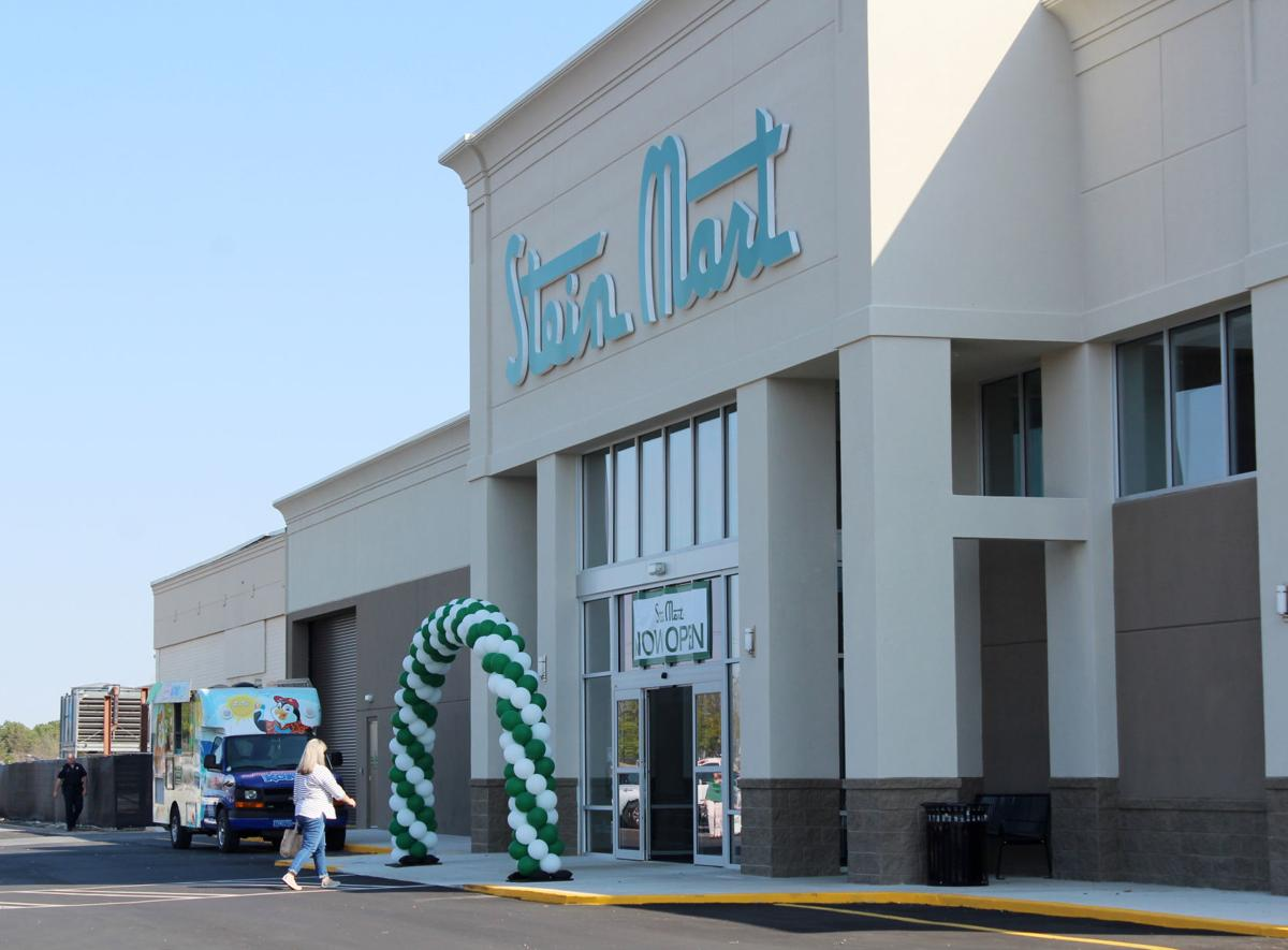 152293aa25c The Stein Mart emblem dons the outside of the building at its grand opening  on Thursday at the Auburn Mall.