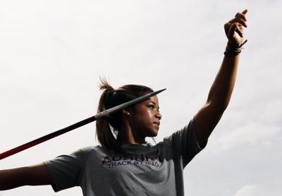 Kylee Carter Auburn javelin thrower