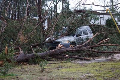 Tornado damage in Beauregard