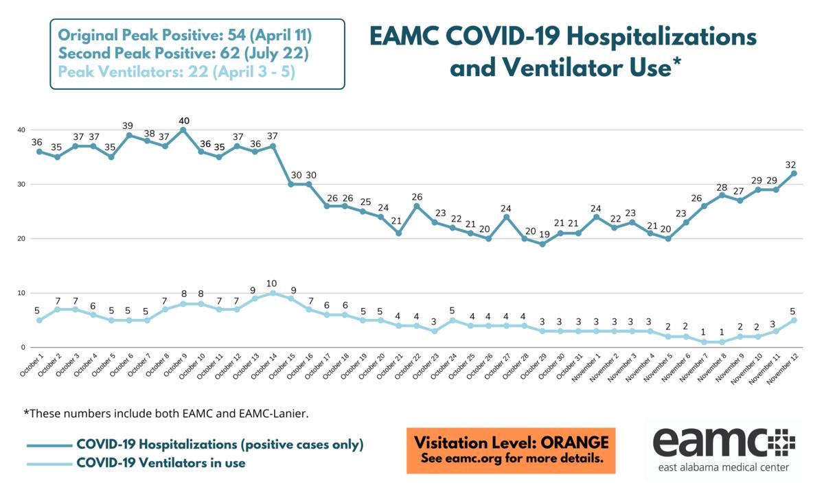 COVID HOSPITALIZATIONS GRAPH