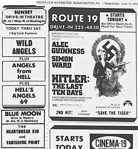 Drive In Ads: 1973