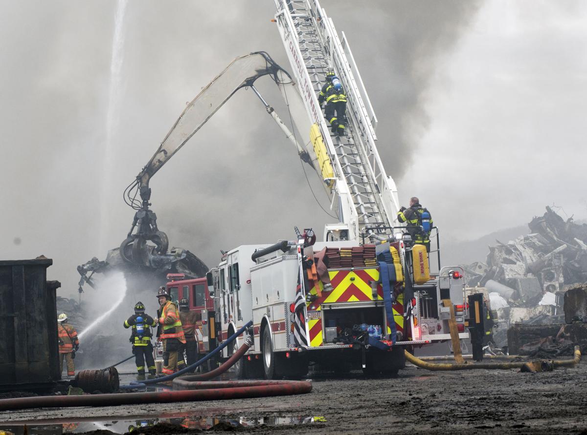 Scrapyard fire one
