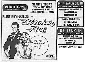 Drive In Ads: 1983