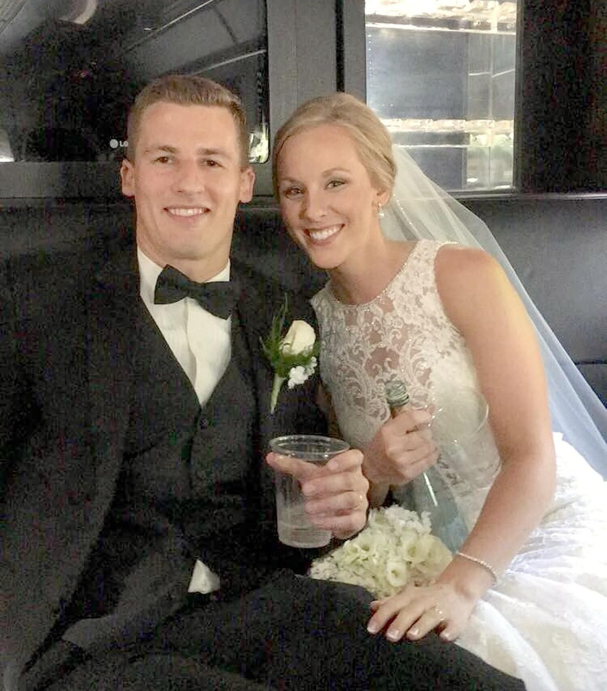 New Peters Twp. bride revives woman on Pittsburgh bench