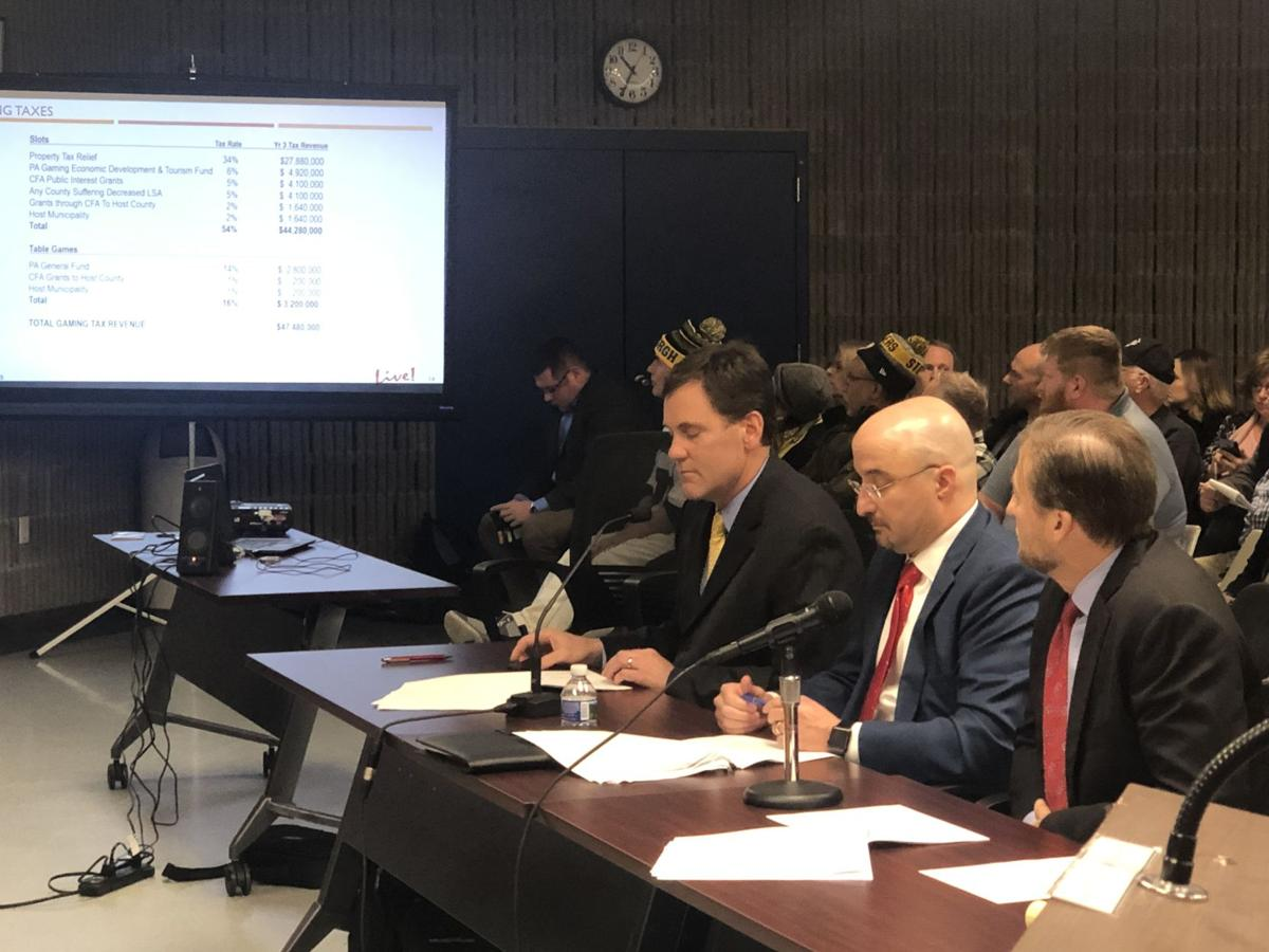 Gaming board holds hearing for proposed mini-casino in
