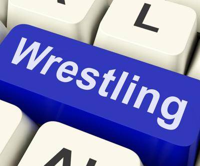 Wrestling stock image