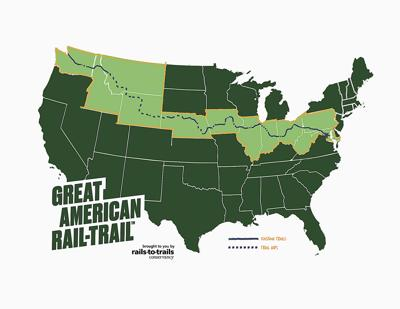 Great American Rail Trail map