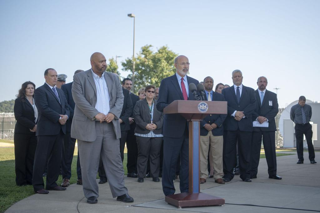 Gov  Wolf visits SCI-Greene to announce new safety measures