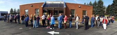 Long lines forming at polling places across region