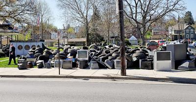 Chess Park recycling mess