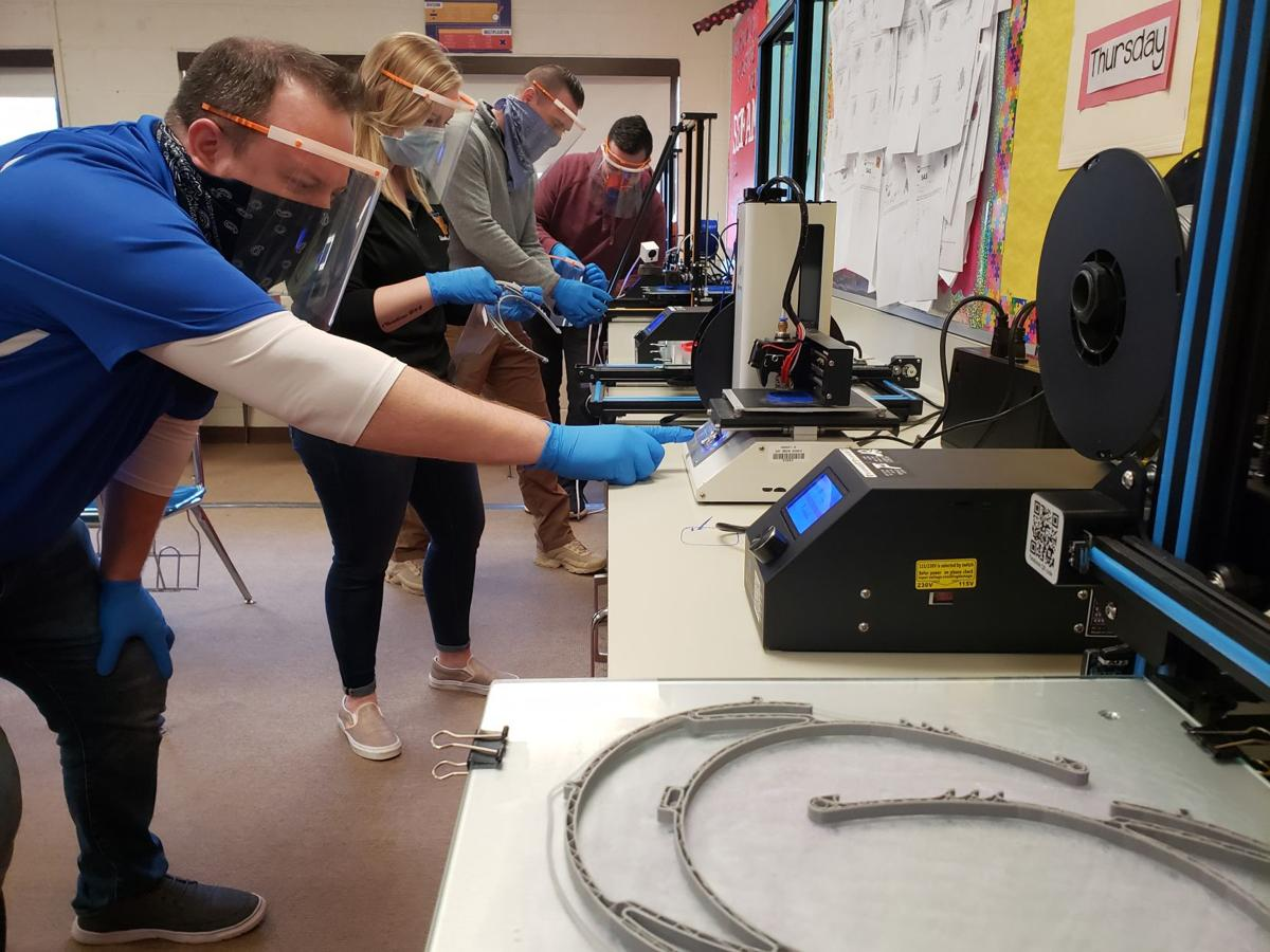 West Greene using 3D printers to create face shields