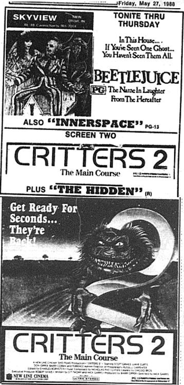 Drive In: Critters 2/Beetlejuice