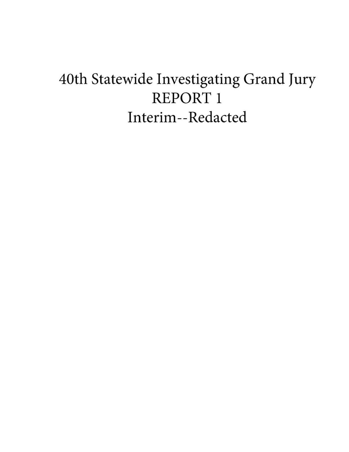 Pennsylvania Statewide Grand Jury Investigation of Abuse at Catholic Dioceses
