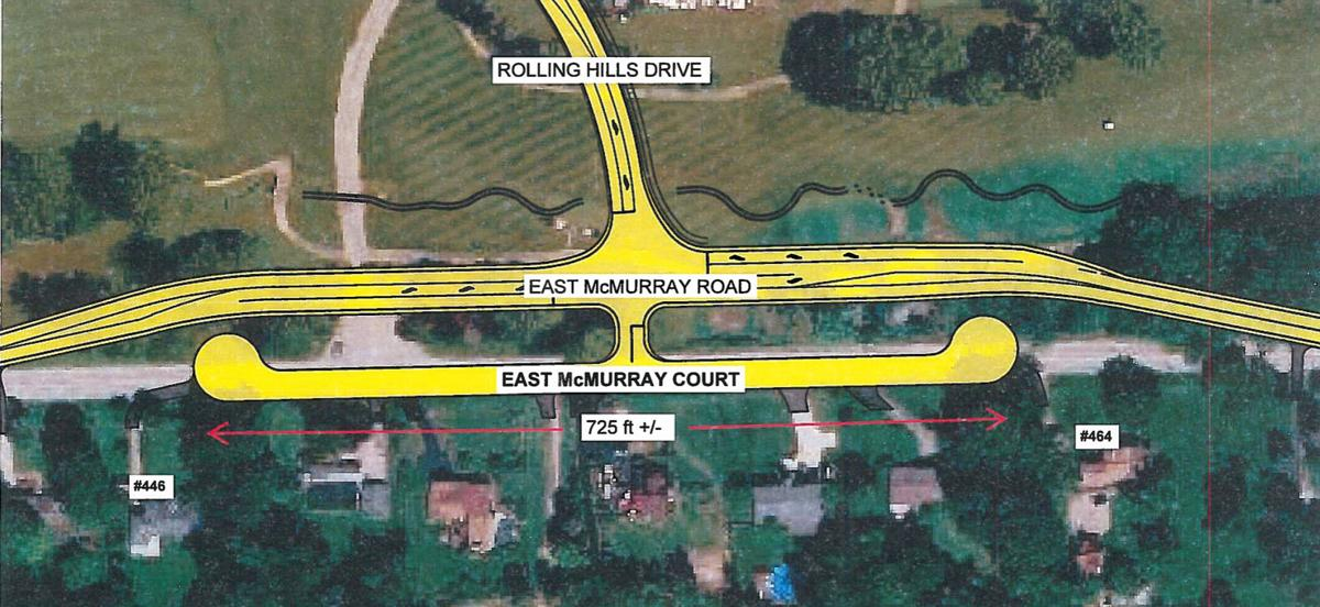 East McMurray map