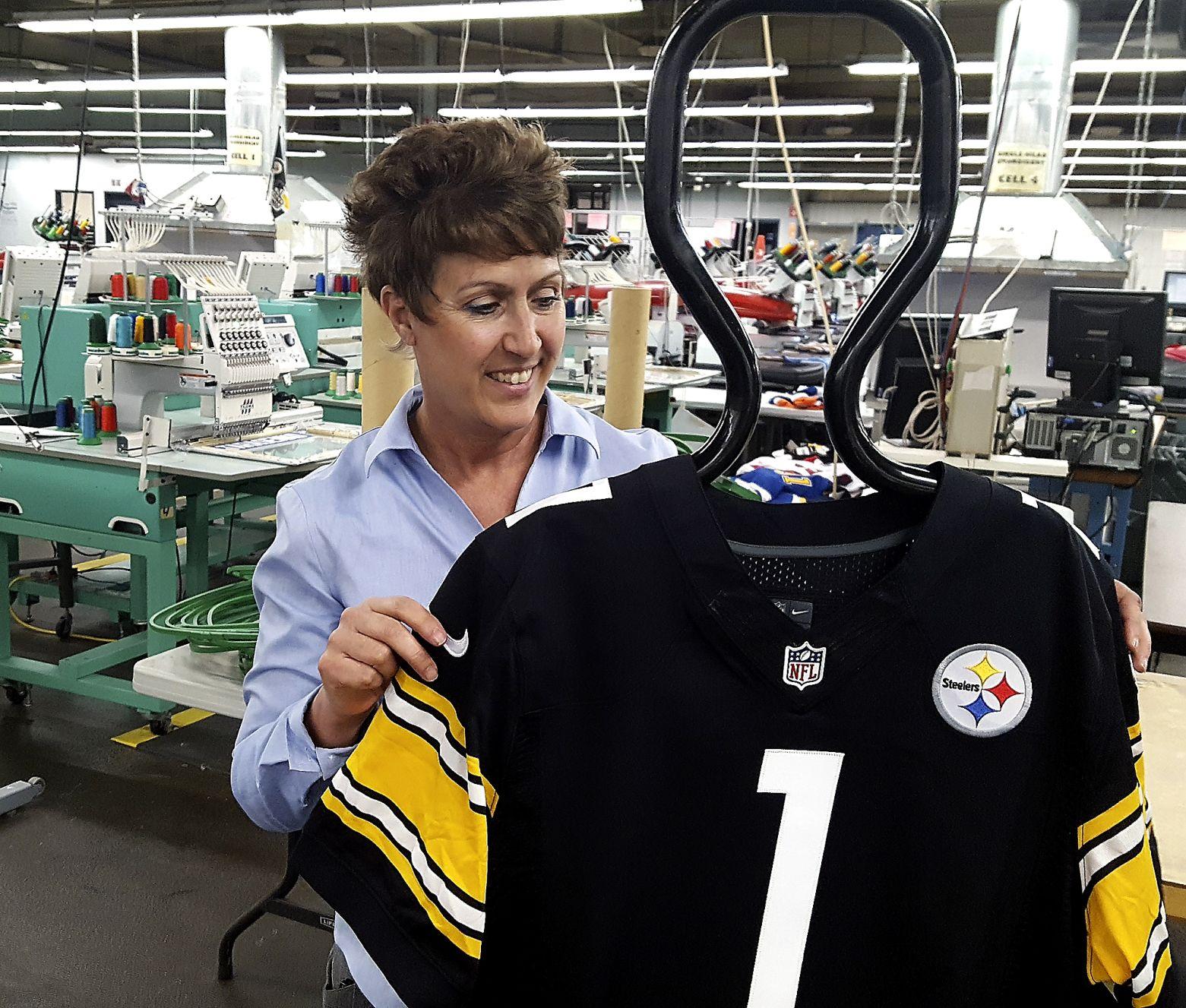 Masontown sports apparel company produces NFL Draft jerseys ...