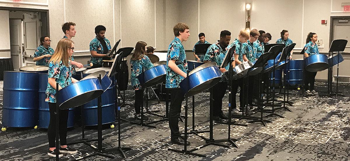 Washington High School steel drum band