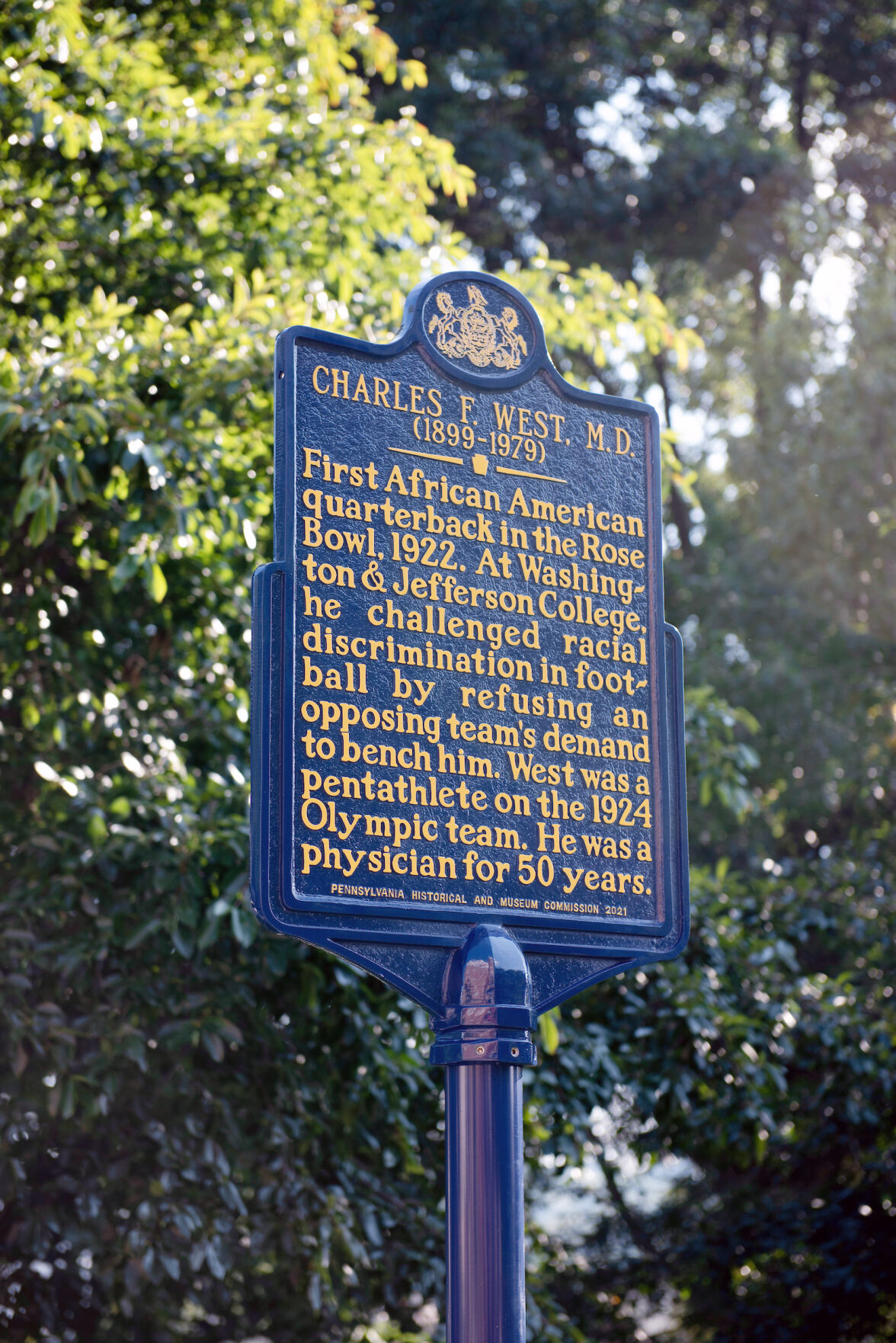 Charles West Pennsylvania State Marker