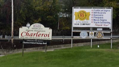CHARLEROI SIGN
