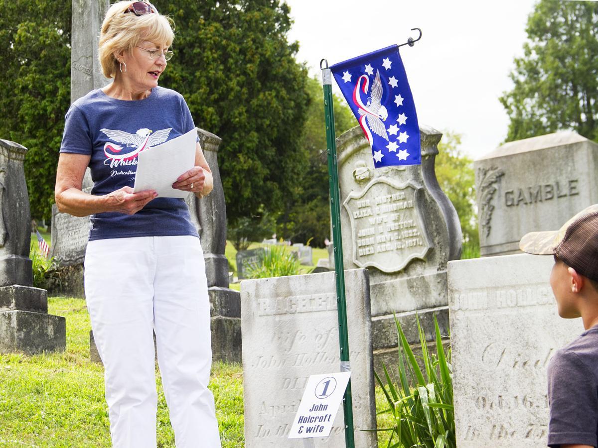 Dorothy Bewick at grave