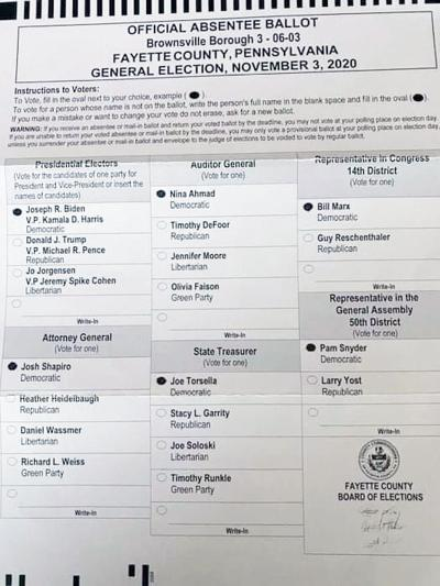 Filled in ballot