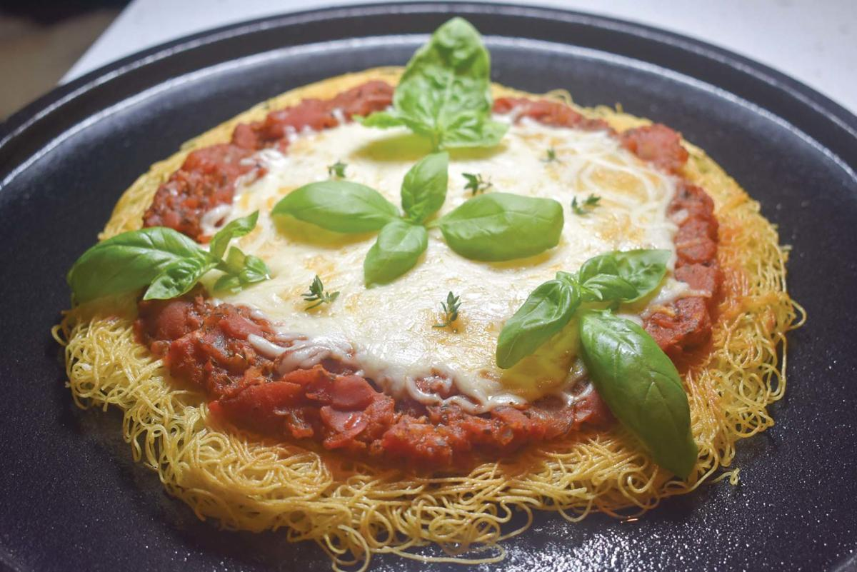 walker personalize pasta pizza with favorite toppings food for