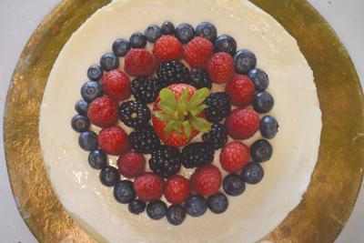 Vanilla Cheesecake with Mixed Berries