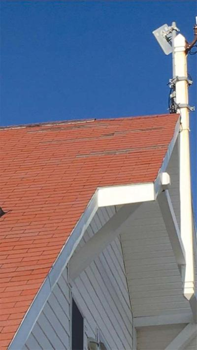 tram station roof