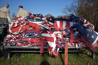 More than 1,500 flags retired in OP during ceremony