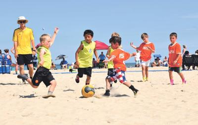 Beach 5 sand soccer event this weekend in Ocean City