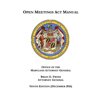 Open meetings act