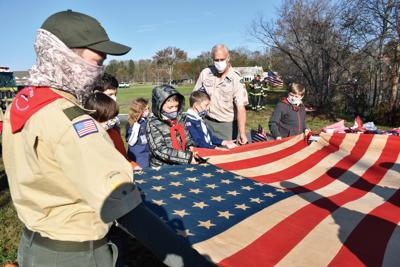 Scouts conduct proper U.S. flag retirement in Ocean Pines