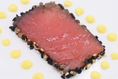 Peppercorn Encrusted Tuna Carpaccio
