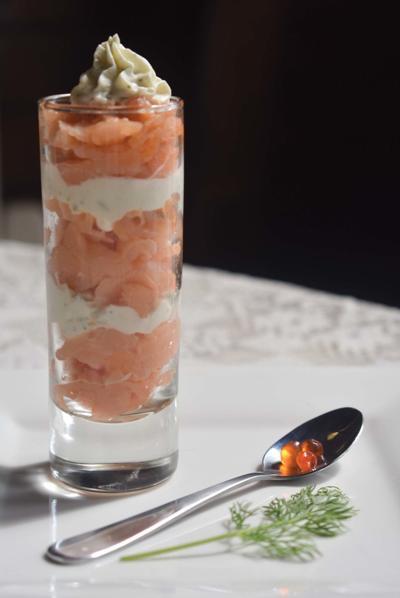 Smoked Salmon Parfait