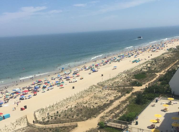 overhead beach shot